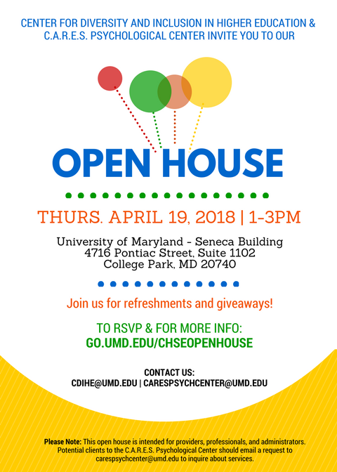 Invitation to CDIHE and CARES Open House