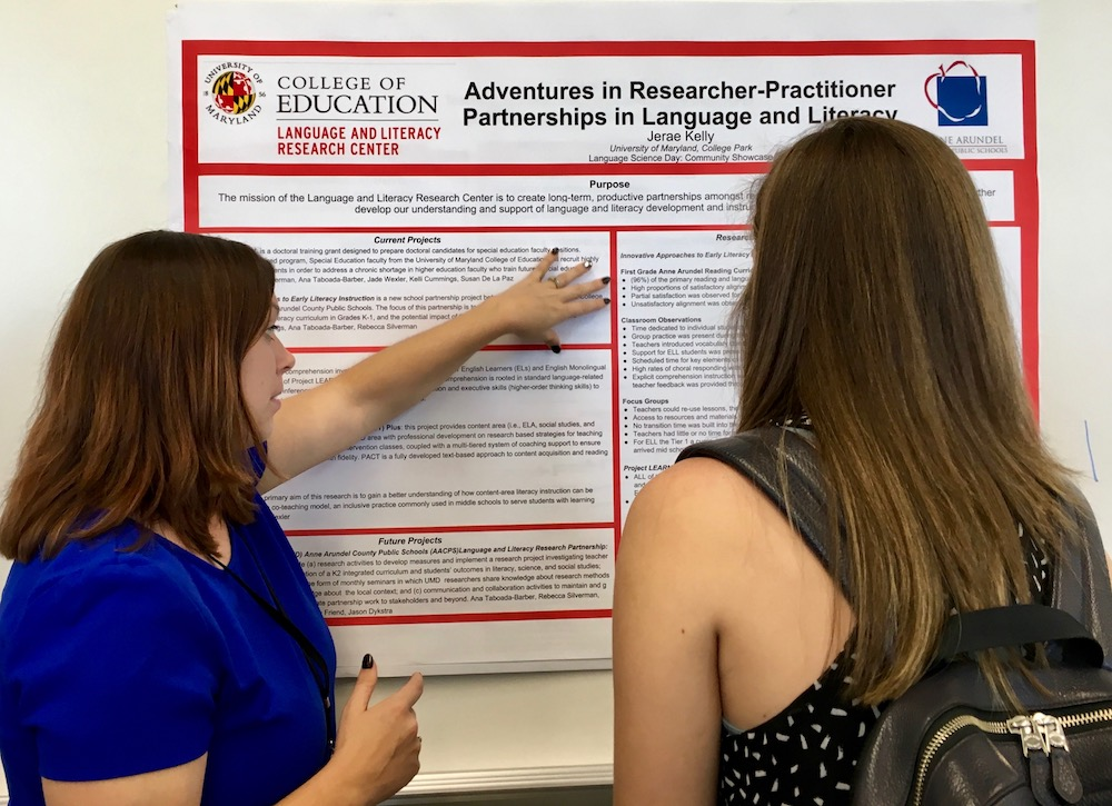 Presenting an LLRC poster