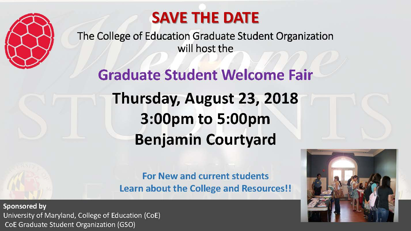 COE Graduate Student Welcome Fair