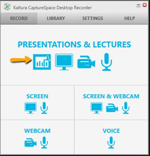 Kaltura Capture Space Presentations and Lectures