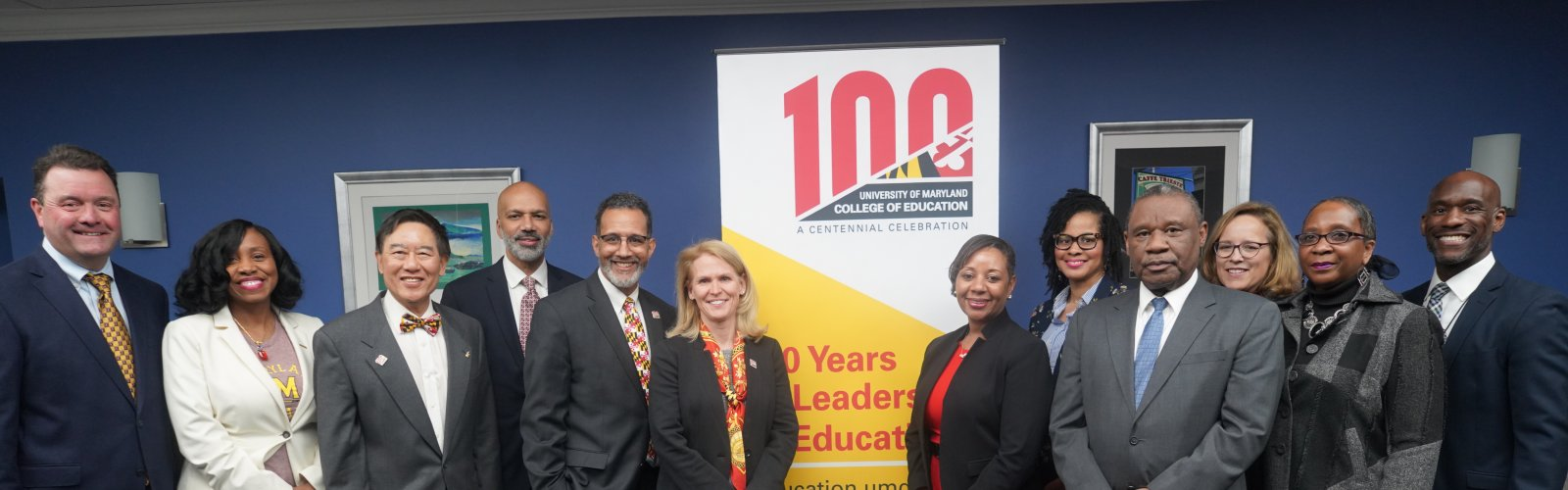 PGCPS and COE leadership at an MOU signing