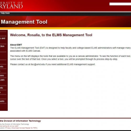 ELMS Management Tool Coursemail