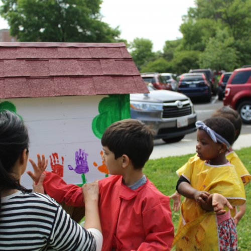 Painting the little free libraries