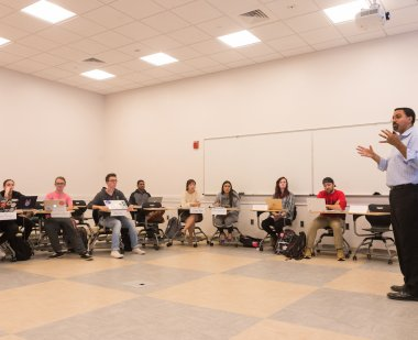 John B. King teaching a course on education policy at UMD
