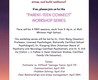 Parent-Teen Connect Flyer