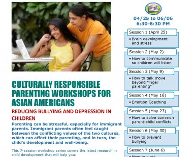Asian American Parenting Workshop Flyer