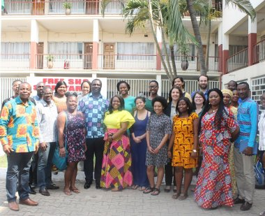 HEGC! group with Deputy Minister of Education for Ghana, the Hon. Dr. Yaw Osei Adutwum, and the Minister of Education Office
