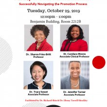 Flyer for the Faculty of Color Panel Discussion